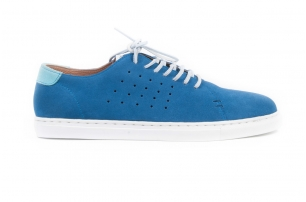 Travel Blue Suede